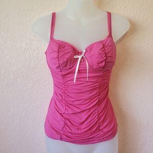 Victoria's Secret Pink Ruched Underwire Tank Top
